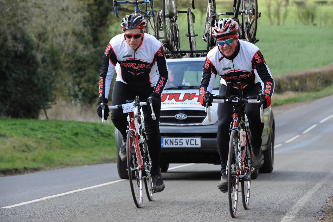 MVH Cyclists - with the MVH Tour car...